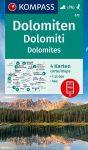 WK 672 - Dolomitok 4 részes turistatérkép  - KOMPASS