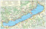 Balaton régió falitérkép (fémléces) - Stiefel