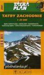 Tatra Plan 2501 - Tatry Zachodnie (Nyugati-Tátra)  turista térkép