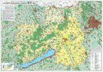 Közép-Dunántúli régió falitérkép - Stiefel