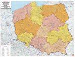 Lengyelország postai irányítószámos falitérkép - f&b