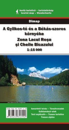 A Gyilkos-tó és a Békás-szoros környéke turistatérkép - Dimap