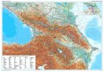 Kaukázus domborzati falitérkép - GiziMap