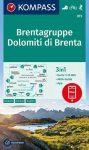 WK 073 - Dolomiti di Brenta - Brentagruppe  turistatérkép - KOMPASS