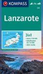 WK 241 - Lanzarote turistatérkép - KOMPASS