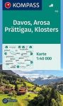 WK 113 - Davos - Arosa - Prättigau turistatérkép - KOMPASS