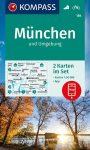 WK 184 - München és környéke 2 részes turistatérkép - KOMPASS