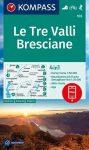 WK 103 - Le Tre Valli Bresciane turistatérkép - KOMPASS