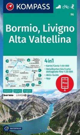 WK 96 - Bormio - Livigno - Alta Valtellina turistatérkép - KOMPASS