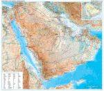 Szaud-Arábia domborzati falitérkép - GiziMap