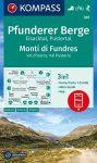 WK 081 - Pfunderer Berge / Monti di Fundres turistatérkép - KOMPASS