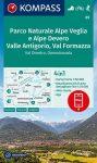 WK 89 - Parco Naturale Alpe Veglia e Alpe Devero turistatérkép - KOMPASS
