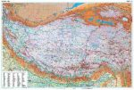 Tibet domborzati falitérkép - GiziMap