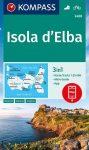 WK 2468 - Isola d' Elba turistatérkép - KOMPASS