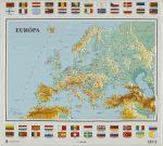 Európa domborított térképe ( 54 x 59) - HM