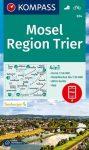 WK 834 - Mosel - Region Trier turistatérkép - KOMPASS
