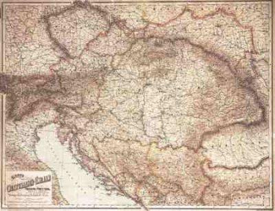 Az Osztrak Magyar Monarchia Terkepe 1890 Faliterkep F B