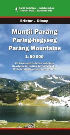 Páring-hegység turistatérkép - Dimap