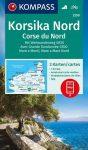 WK 2250 - Korsika Nord - Corse du Nord - Weitwanderweg GR20 3 részes turistatérkép - KOMPASS