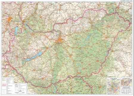 magyarország térkép szarvas Magyarország autótérképe falitérkép   Szarvas   Útikönyv   Térkép  magyarország térkép szarvas