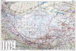 Tibet autótérkép falitérkép - GiziMap