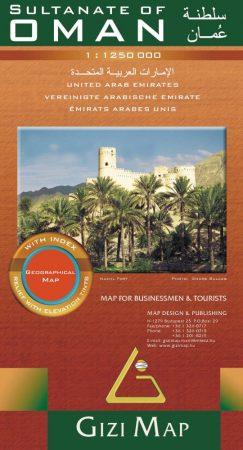 Omán és az Egyesült Arab Emirátusok térkép - Gizimap