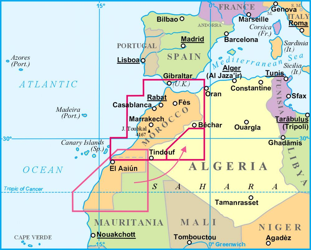 marokkó térkép Marokkó térkép   Gizimap   Útikönyv   Térkép   Földgömb marokkó térkép