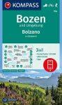 WK 154 - Bozen /Bolzano és környéke turistatérkép - KOMPASS
