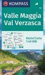 WK 110 - Valle Maggia - Val Verzasca turistatérkép - KOMPASS