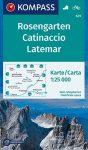 WK 629 - Rosengarten / Catinaccio Latemar turistatérkép - KOMPASS