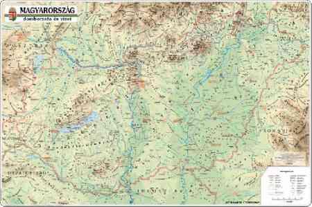 Magyarország domborzata és vizei falitérkép - Topográf