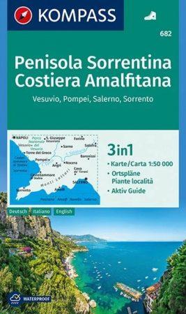 WK 682 - Penisola Sorrentina - Costiera Amalfitana -  turistatérkép - KOMPASS