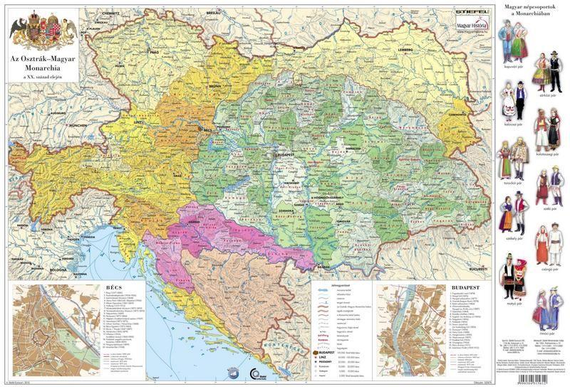 osztrák magyar monarchia térkép Osztrák Magyar Monarchia könyöklő   Stiefel   Útikönyv   Térkép  osztrák magyar monarchia térkép