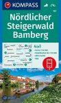 WK 167 - Nördlicher Steigerwald-Bamberg turistatérkép - KOMPASS