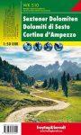 Sextener Dolomiten-Cortina d'Ampezzo turistatérkép - f&b WKS 10