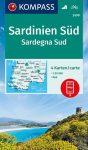 WK 2499 - Szardinia déli része 4 db-os térképkészlet - KOMPASS