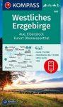 WK 806 - Westliches Erzgebirge  turistatérkép - KOMPASS