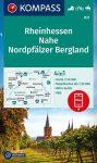 WK 831 - Rheinhessen - Nahe - Nordpfälzer Bergland turistatérkép - KOMPASS