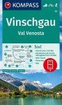 WK 52 - Vinschgau / Val Venosta turistatérkép - KOMPASS