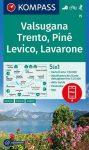 WK 75 - Valsugana - Trento - Lévico - Lavarone turistatérkép - KOMPASS