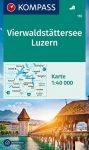 WK 116 - Vierwaldstätter See - Luzern turistatérkép - KOMPASS