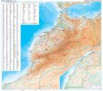 Marokkó domborzati falitérkép - GiziMap