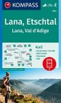 WK 054 - Lana - Etschtal/Val d'Adige  turistatérkép - KOMPASS