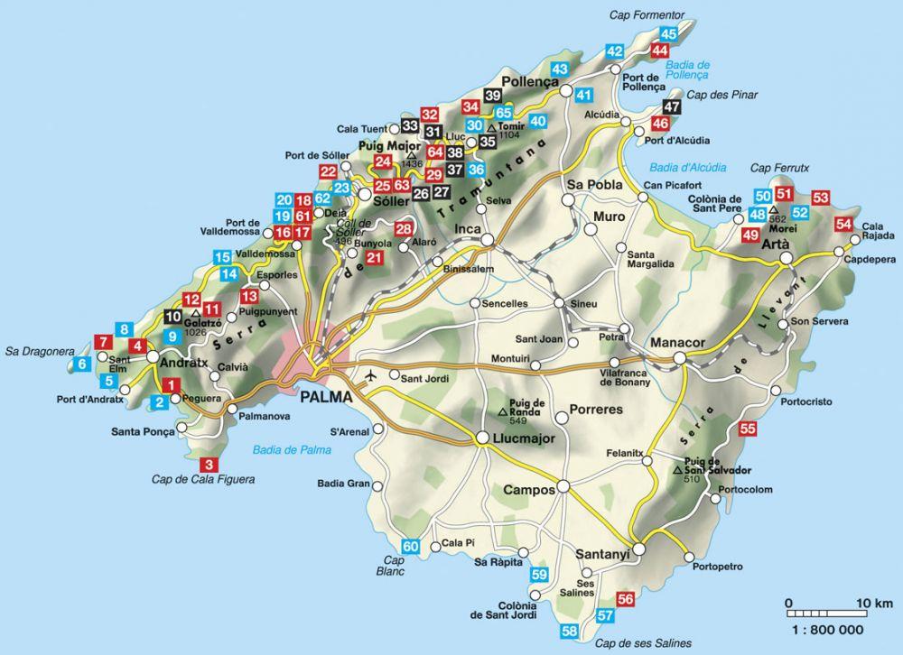 mallorca térkép Mallorca   RO 4805   Útikönyv   Térkép   Földgömb mallorca térkép