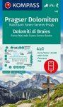WK 145 - Pragser Dolomiten (Naturpark Fanes-Sennes-Prags) turistatérkép - KOMPASS