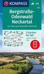 WK 827 - Bergstraße-Odenwald - Neckartal 2 részes turistatérkép - KOMPASS