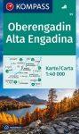 WK 99 - Oberengadin - Alta Engadina turistatérkép - KOMPASS