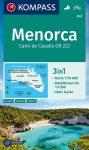 WK 243 - Menorca turistatérkép - KOMPASS
