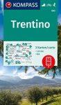 WK 683 - Trentino 3 részes turistatérkép készlet - KOMPASS