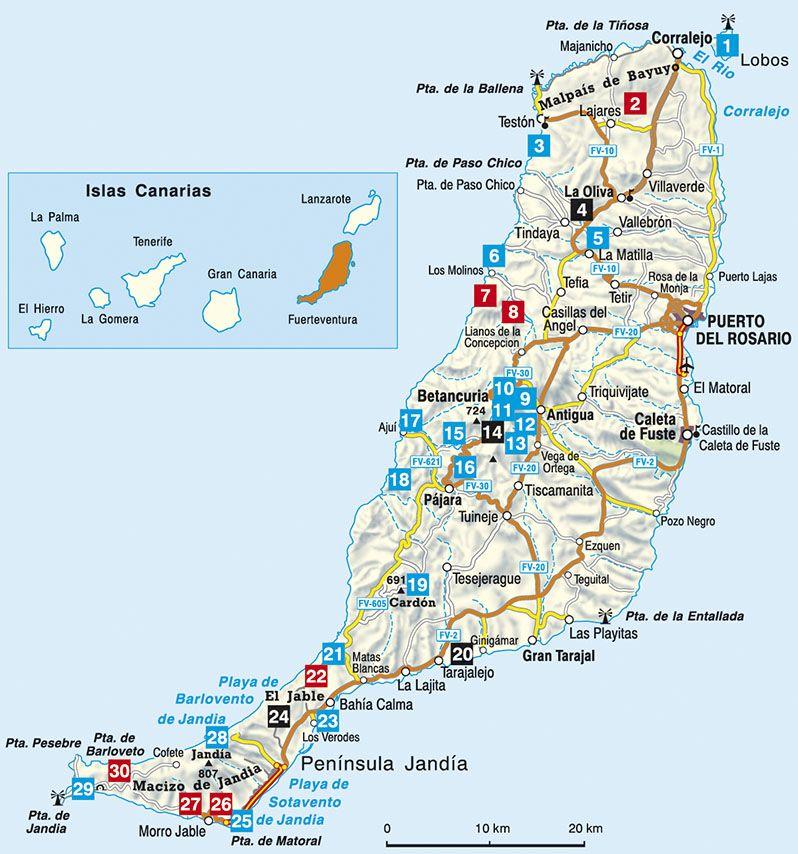 fuerteventura térkép Fuerteventura (Die schönsten Küsten  und Bergwanderungen)   RO  fuerteventura térkép